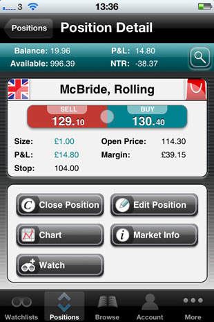 Spreadex iPhone Trading App